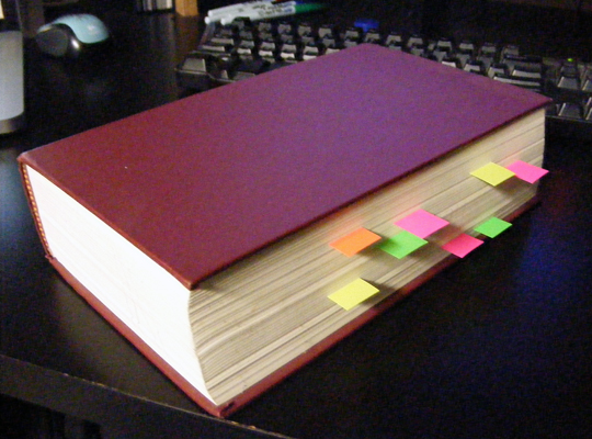 Book with Stickies #1