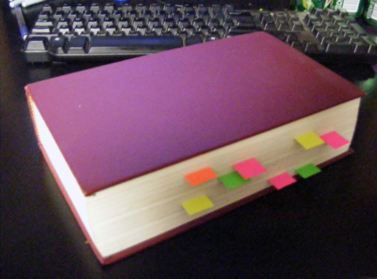 Book with Stickies #2