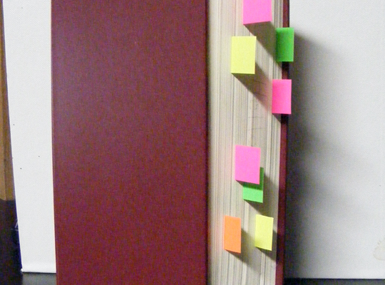 Book with Stickies #3