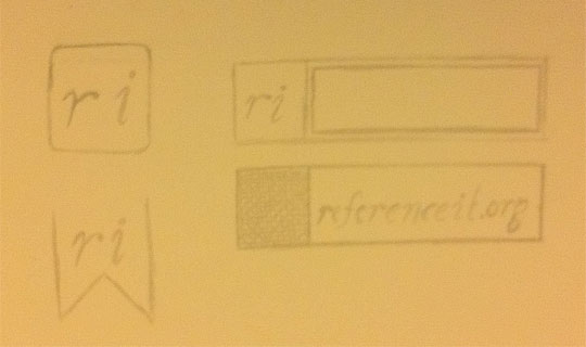 ReferenceIt Branding Sketch