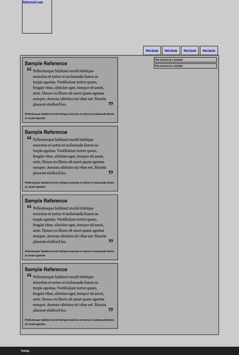 Getting it ON (the screen) - HTML Wireframe